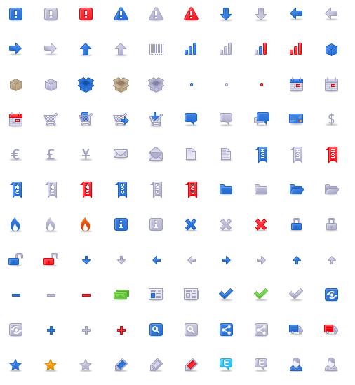 111 icônes Ecommerce