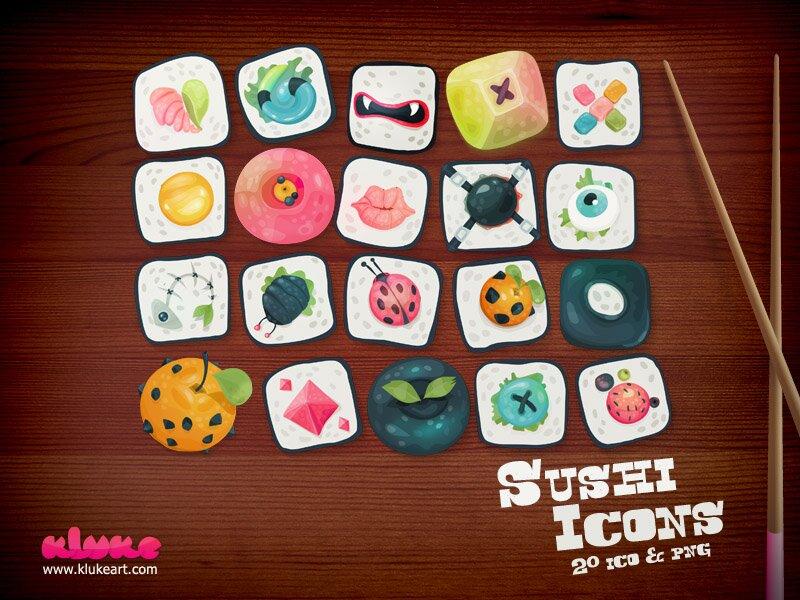 Sushi icônes