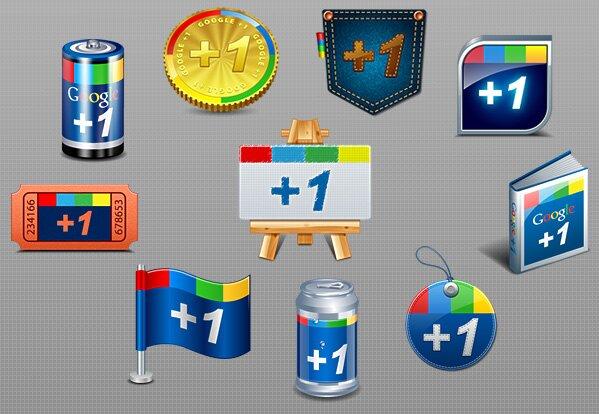 Originales Google +1 icônes