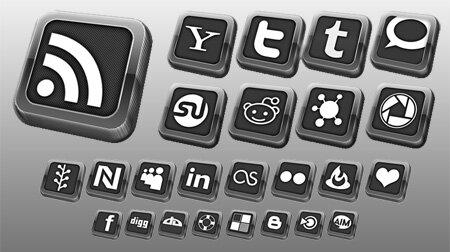 Elegant icônes sociales