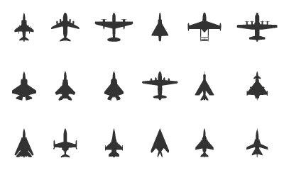 Icônes avions