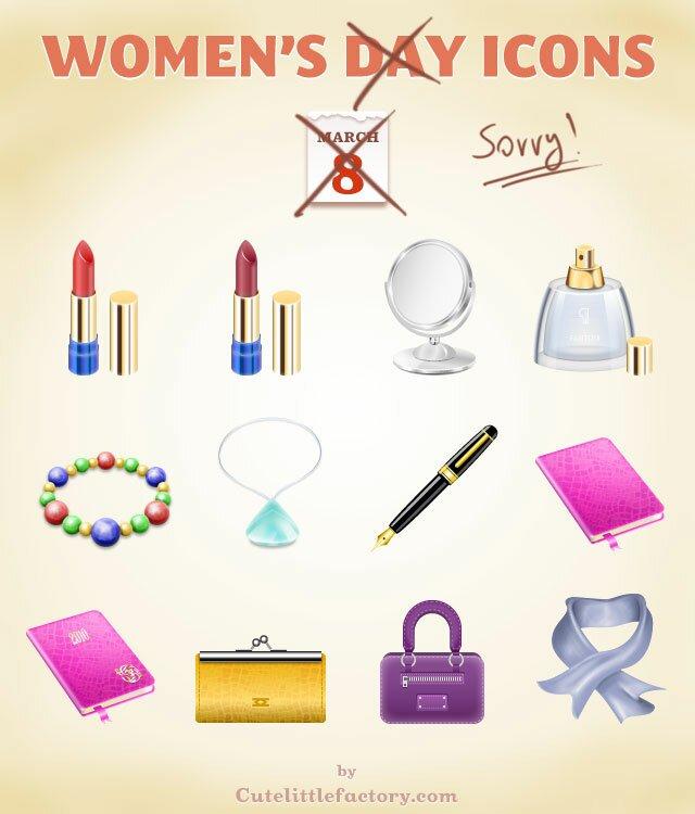 Women's Day Icones