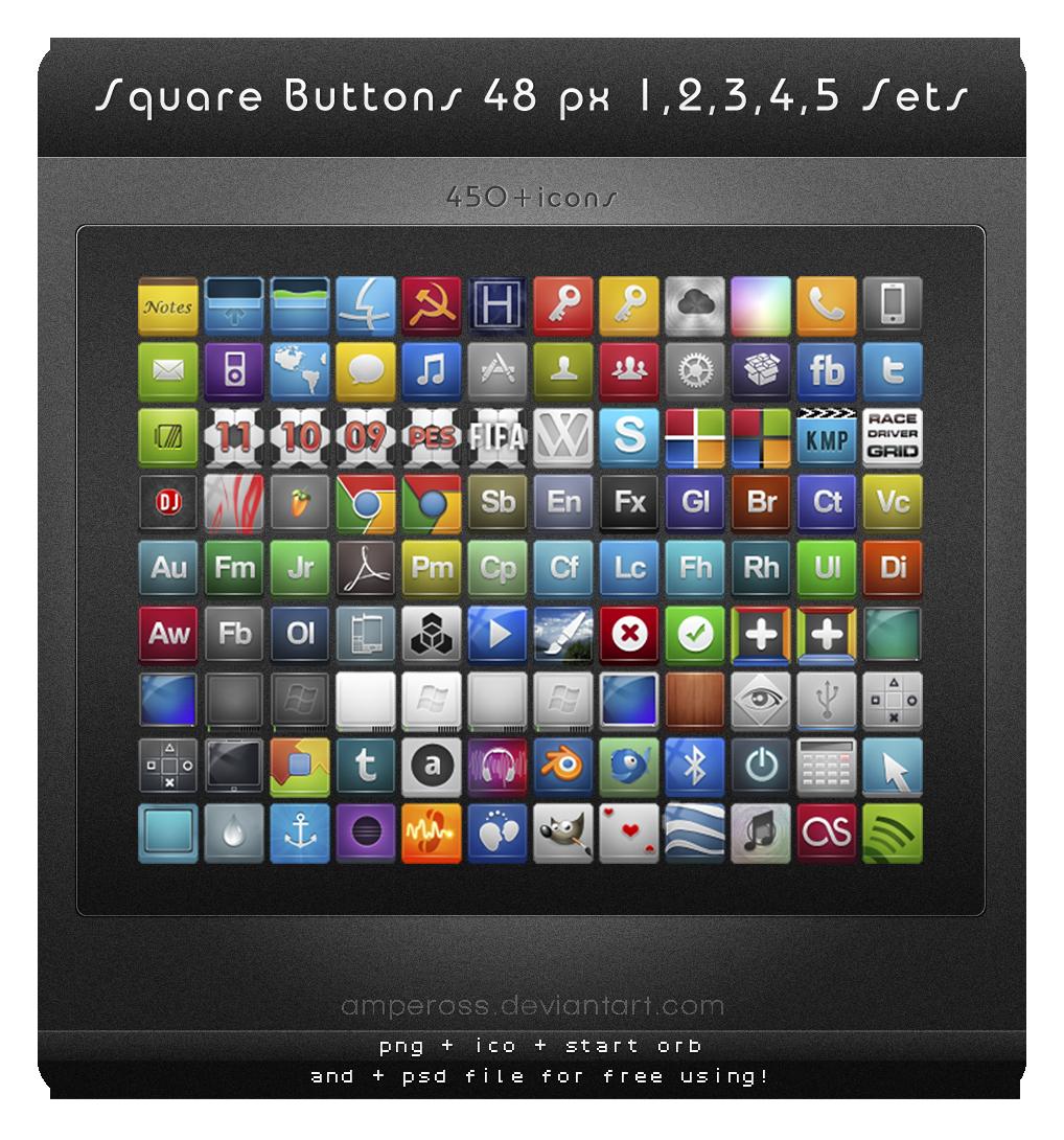 Icônes carrés