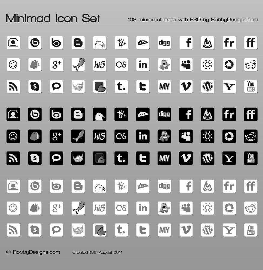 Minimad icônes set