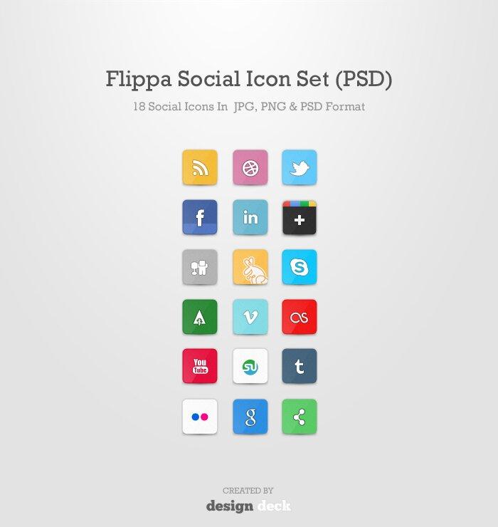 Flippa Social Icon Set