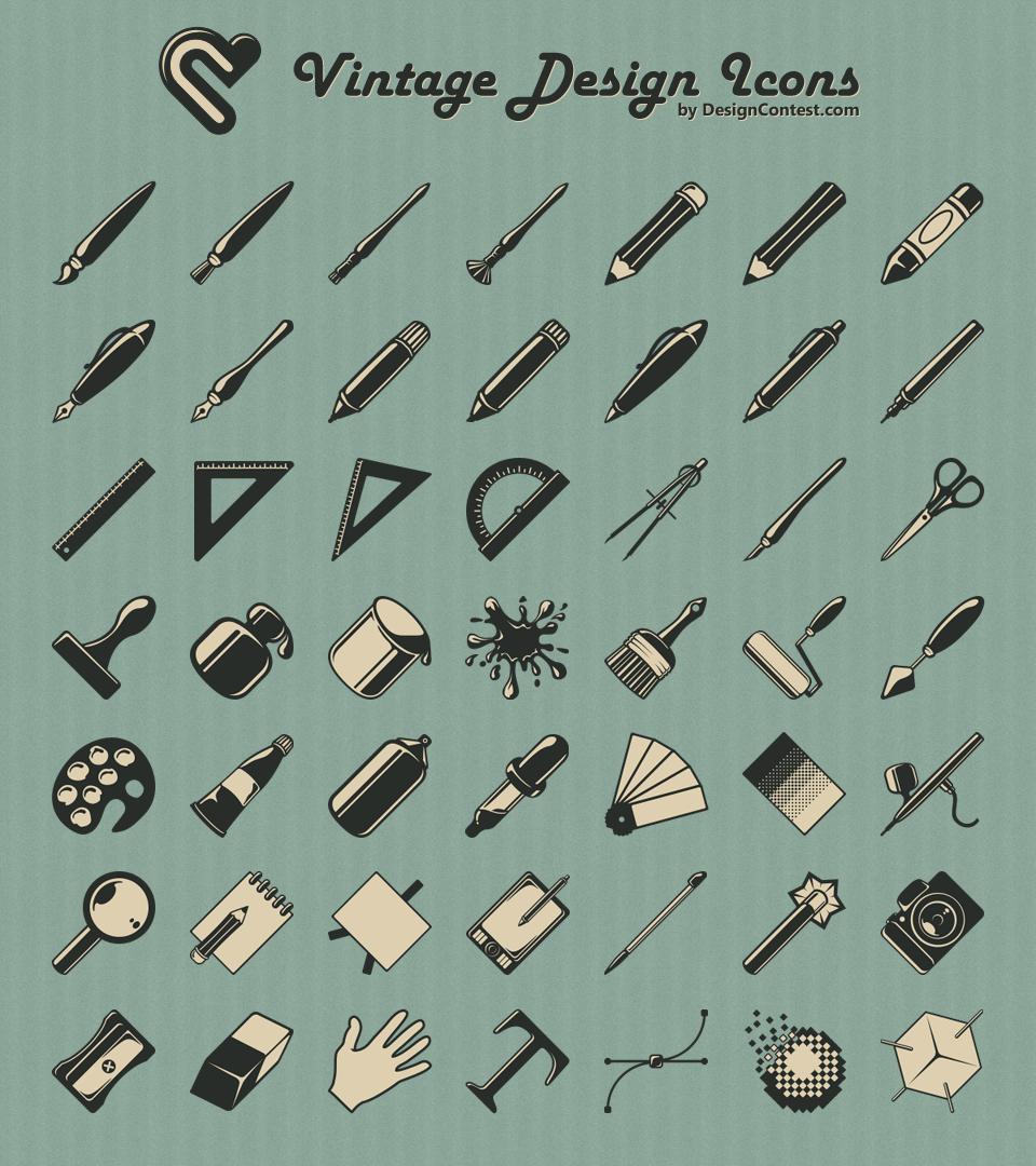 Vintage design icônes