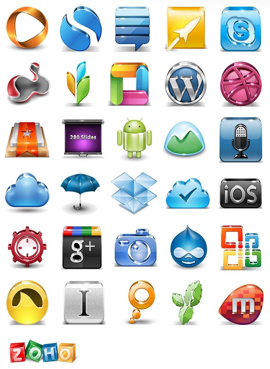 Icônes 3D applications