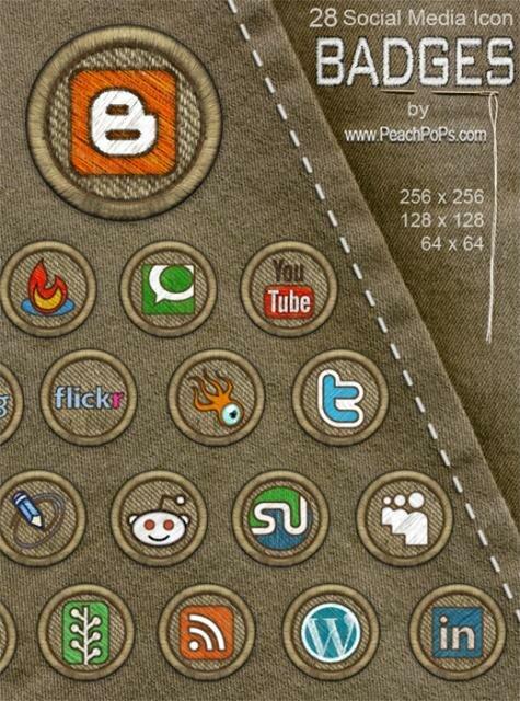 Social Media Icon Badges