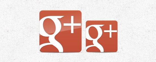Nouvelle icône Google +