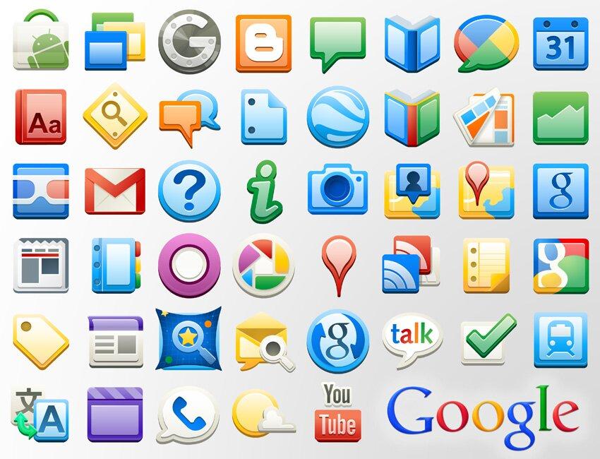 Google Apps icônes