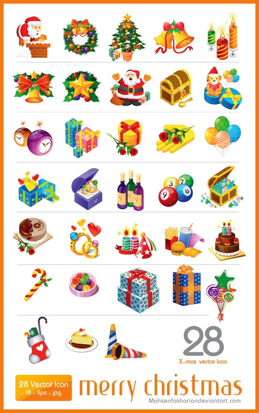 Icônes Noël vectorielles