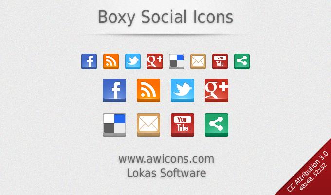 Boxy Social Icones
