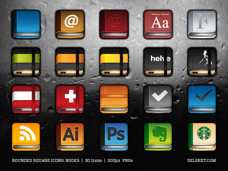 icônes livres