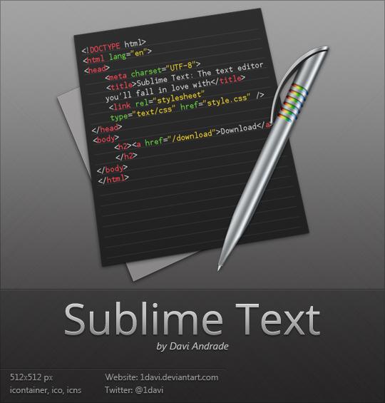 Sublime Text icône