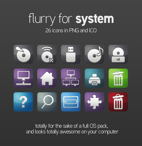 Flurry OS icones