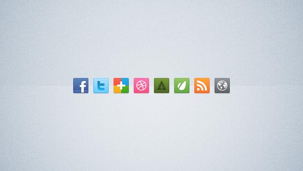 Bright Social Media icones