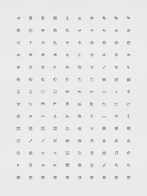 Pixel-Perfect 14px icones