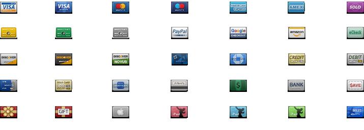 Cartes de crédit miniatures