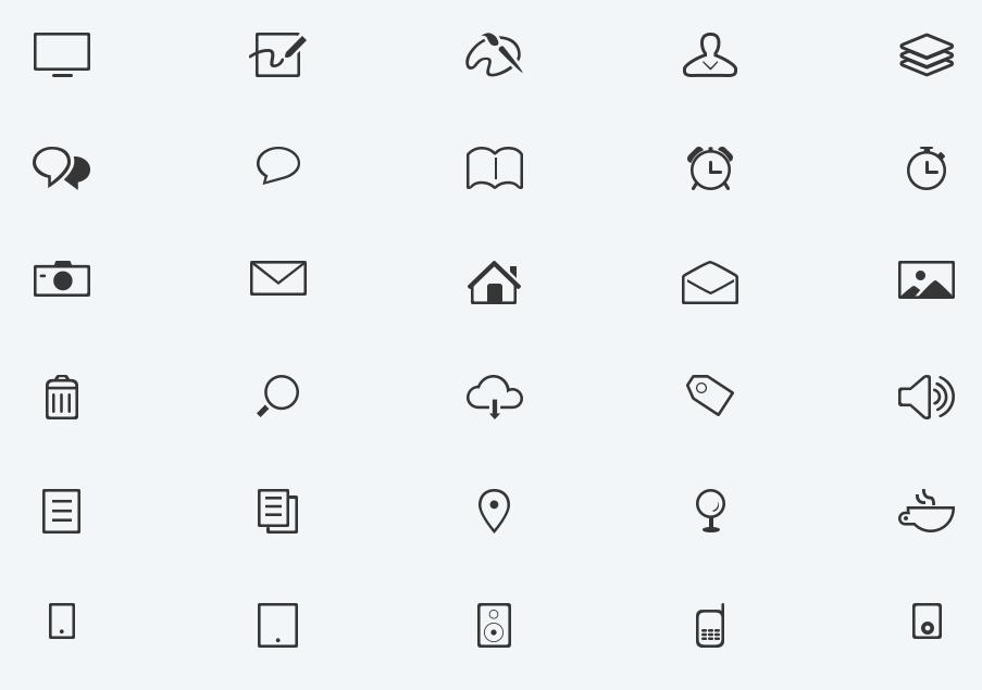 Modern minimal glyphs