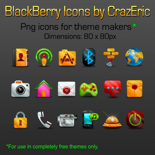 Gleam BlackBerry Icones