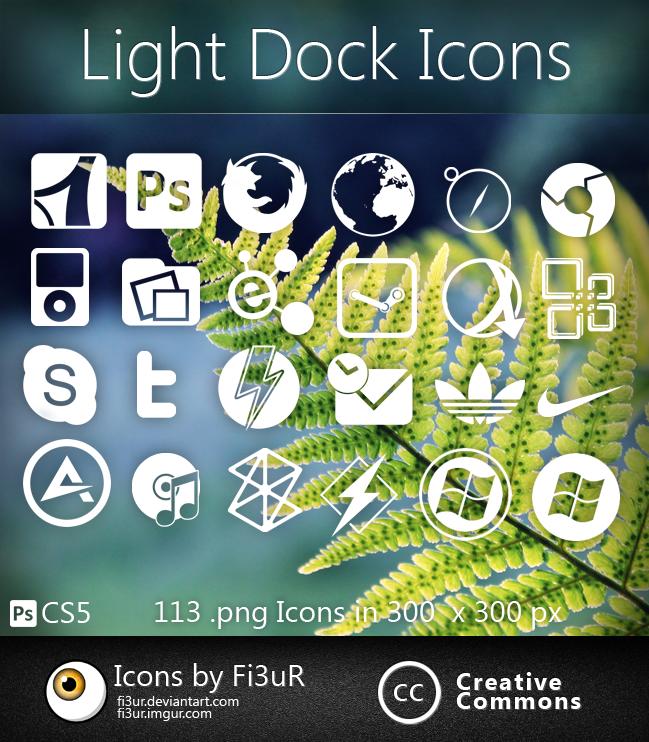 Light Dock Icones