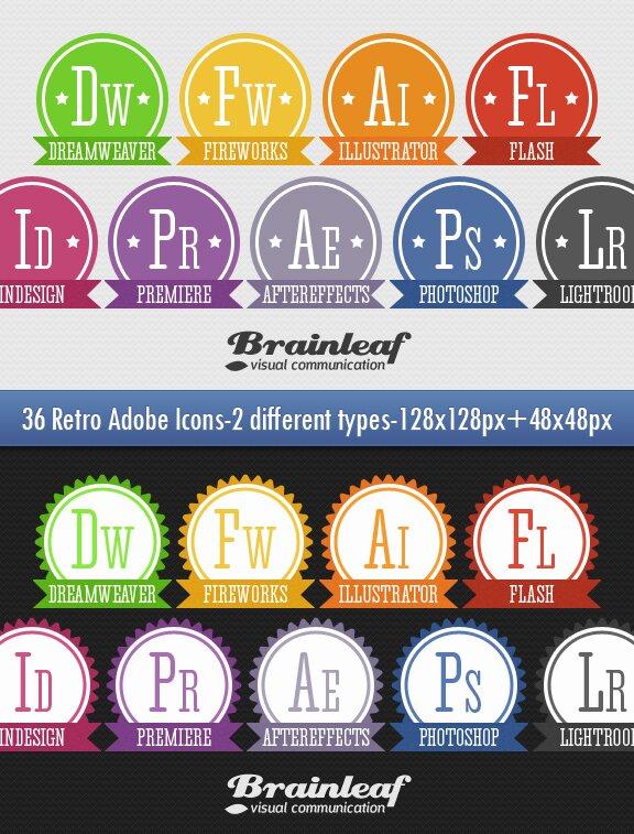 Retro Adobe Icones