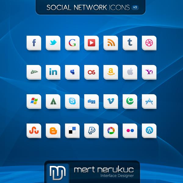 Social Networks Icones v2