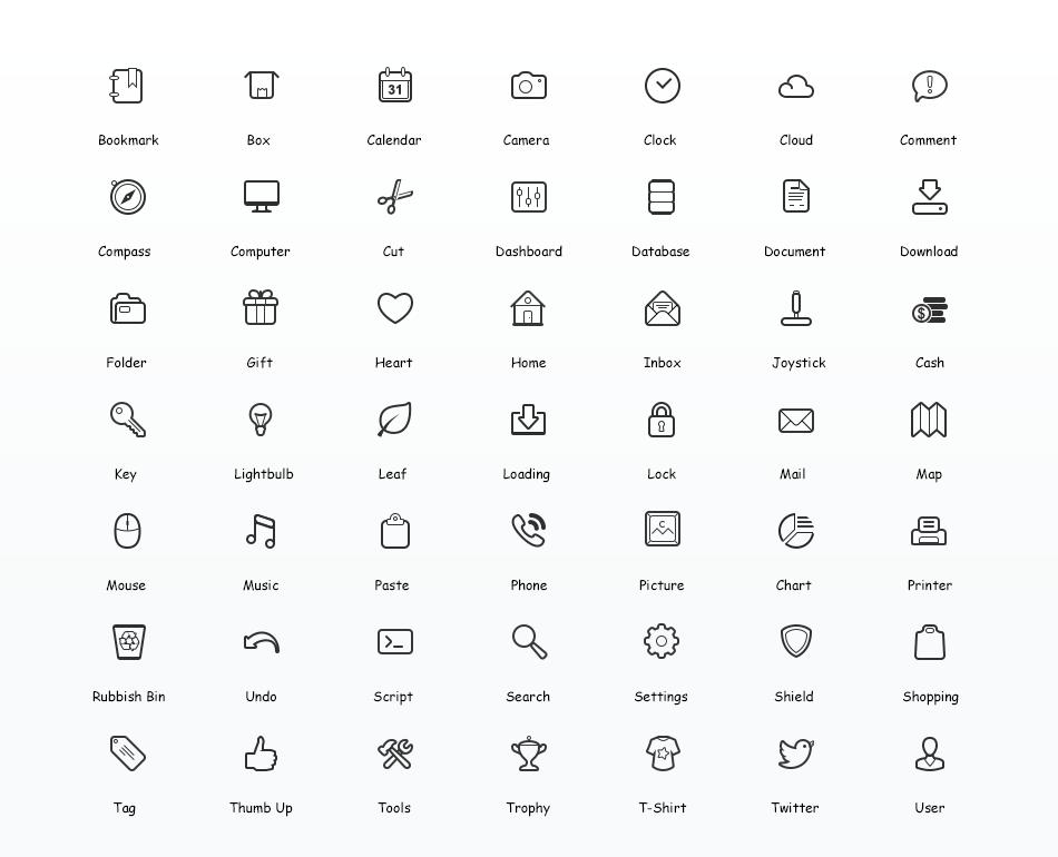 Simplicity vector icons