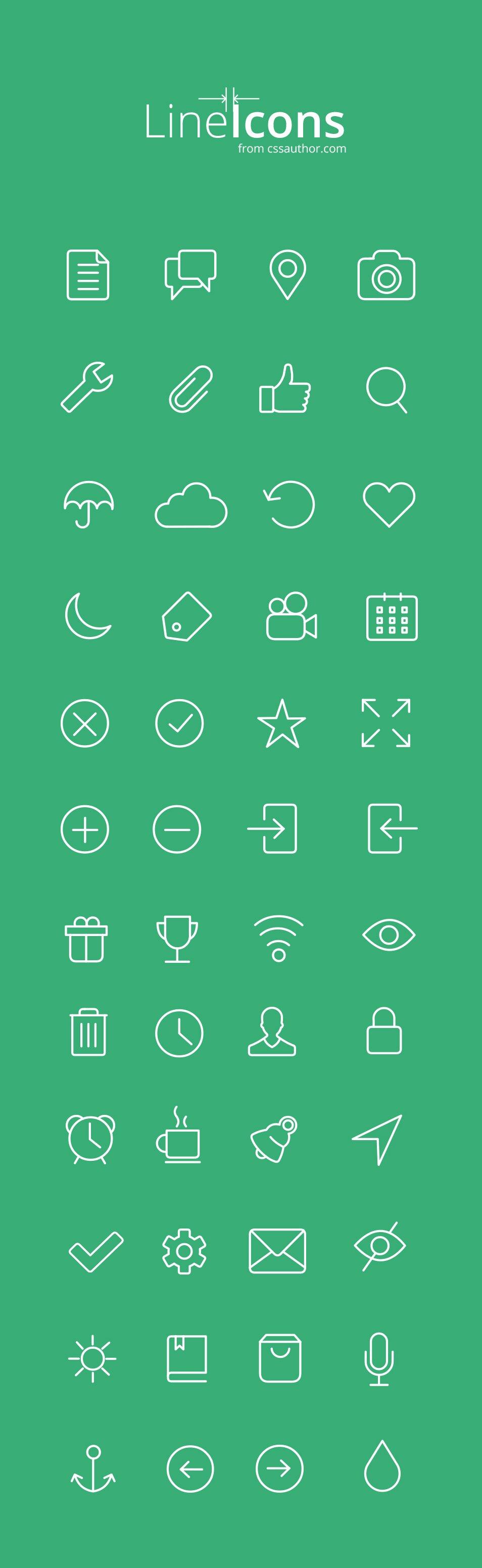 Line icones
