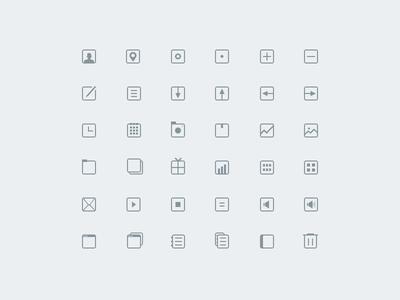 36 thin icons