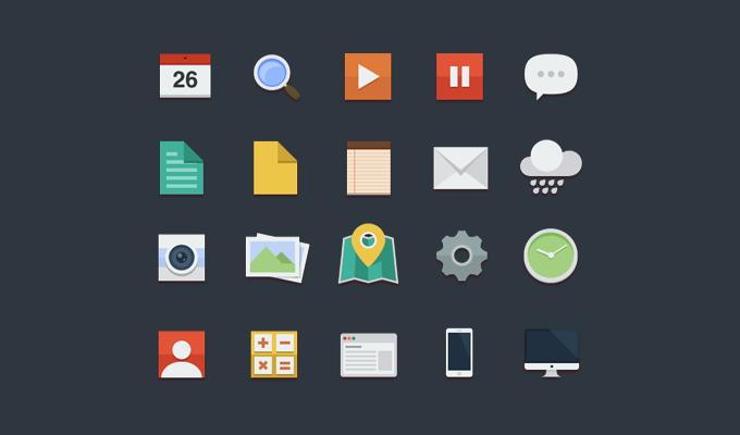 Flat icones