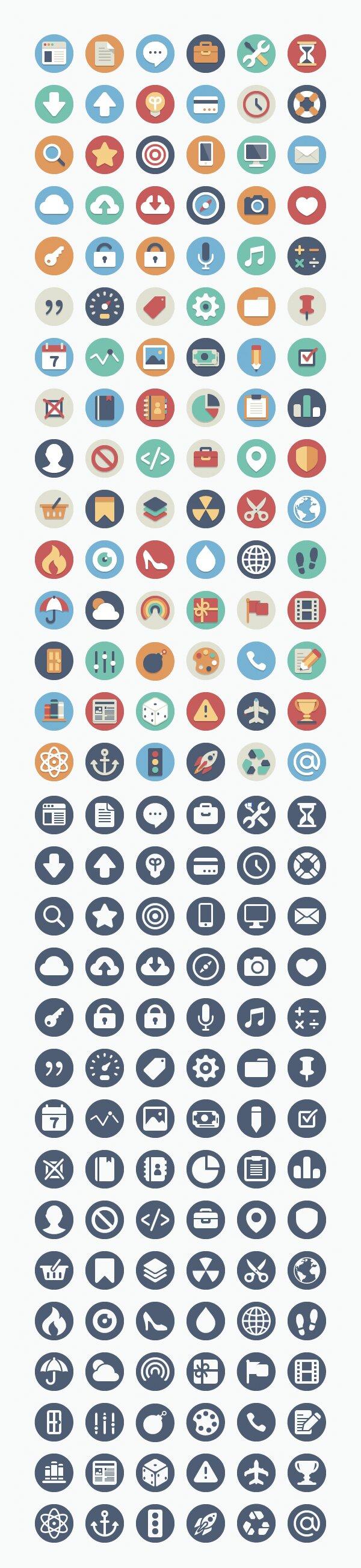 Beautiful flat icones
