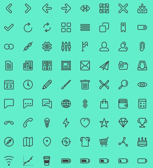 UI line icons