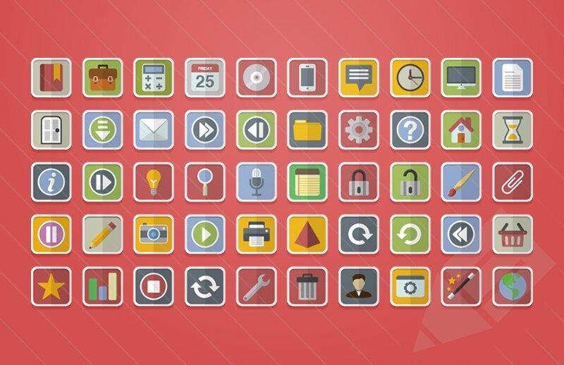 Flat Vector Icones