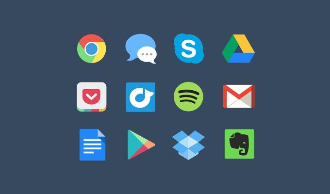 Colorful icones