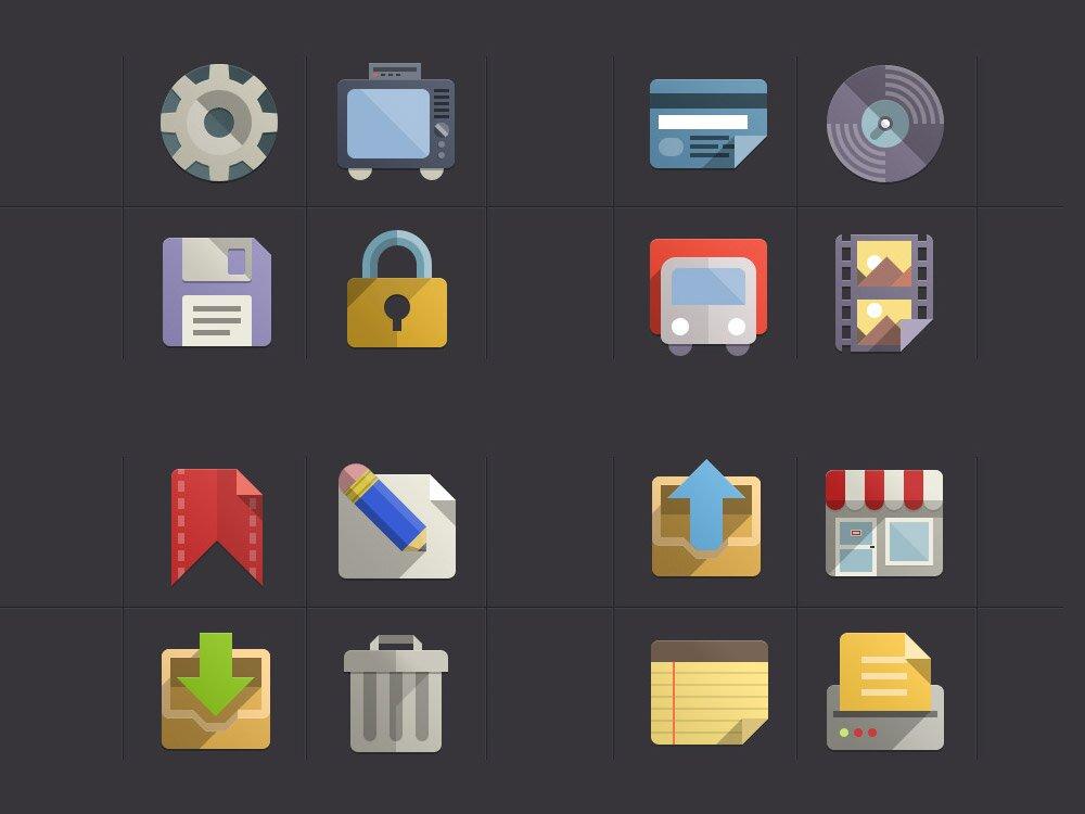 Flat Design Icones Set Vol3