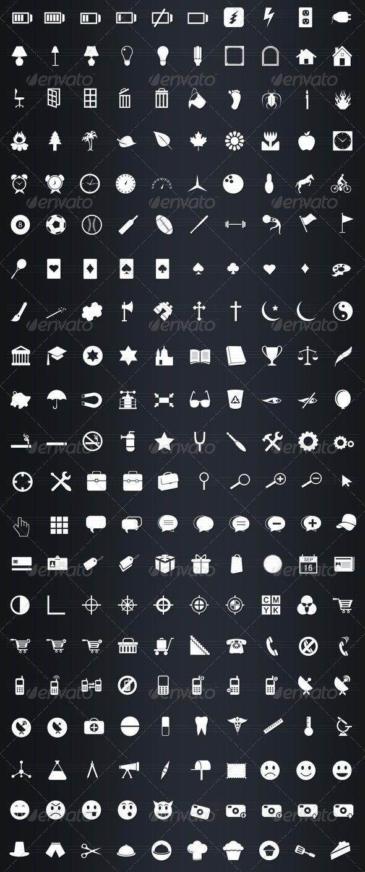 475 icônes vectorielles