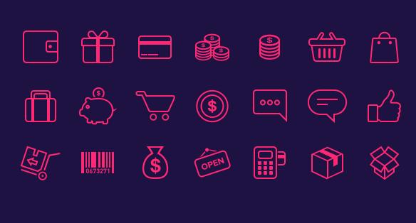 21 icônes e-commerce