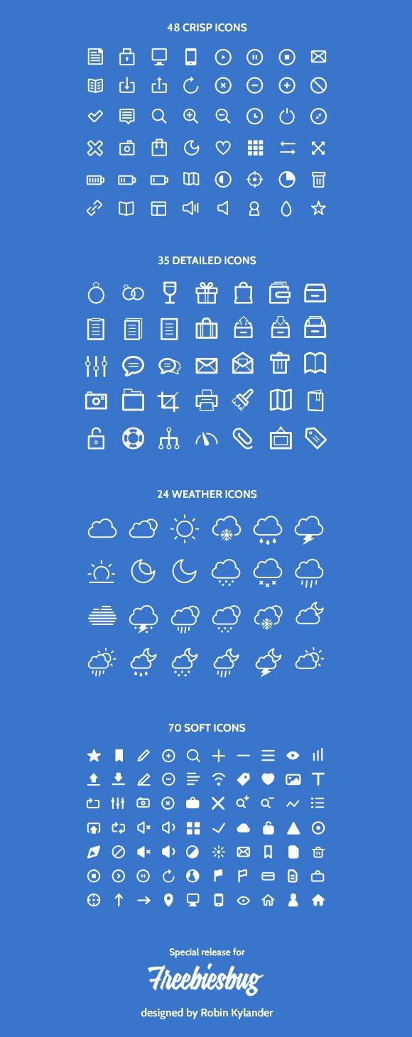 177 icônes design