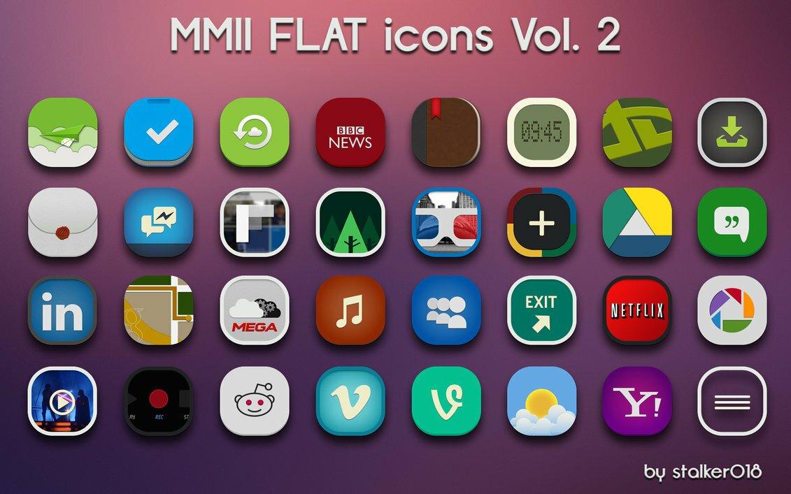 MMII FLAT icones