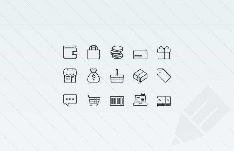 Icônes e-commerce vector