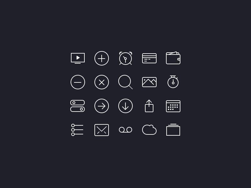 20 icones ios7